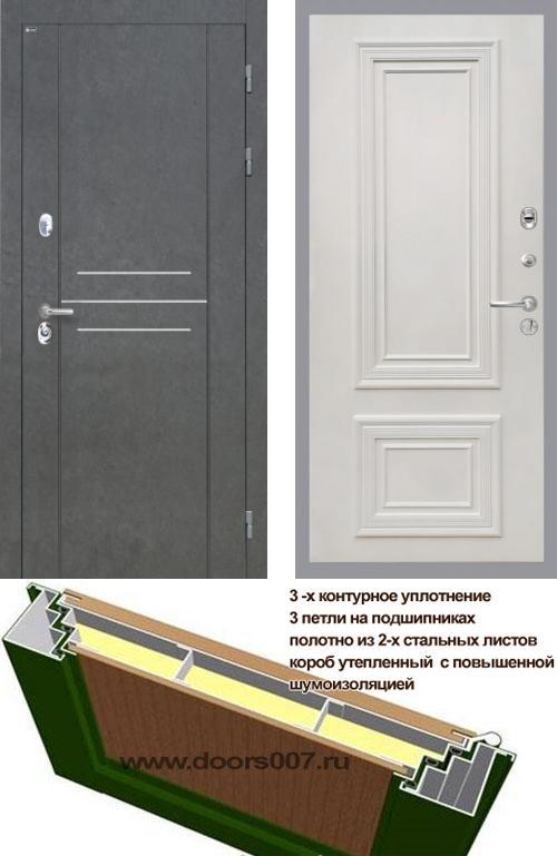 входные двери (стальные двери, металлические двери) DOORS007: дверь Интекрон Сенатор ЛОФТ Сан Ремо
