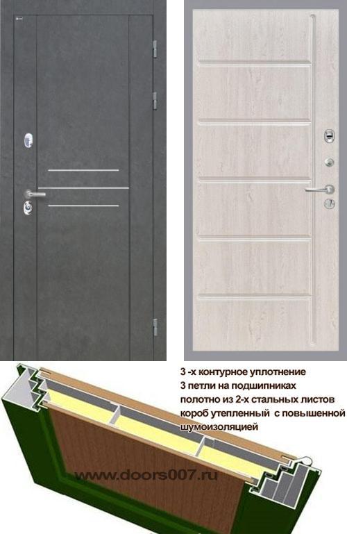 входные двери (стальные двери, металлические двери) DOORS007: дверь Интекрон Сенатор ЛОФТ ФЛ-102