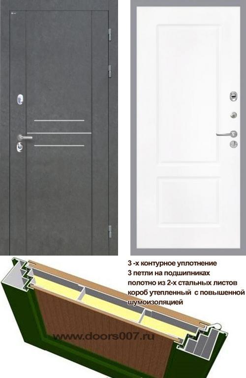 входные двери (стальные двери, металлические двери) DOORS007: дверь Интекрон Сенатор ЛОФТ КВ-2