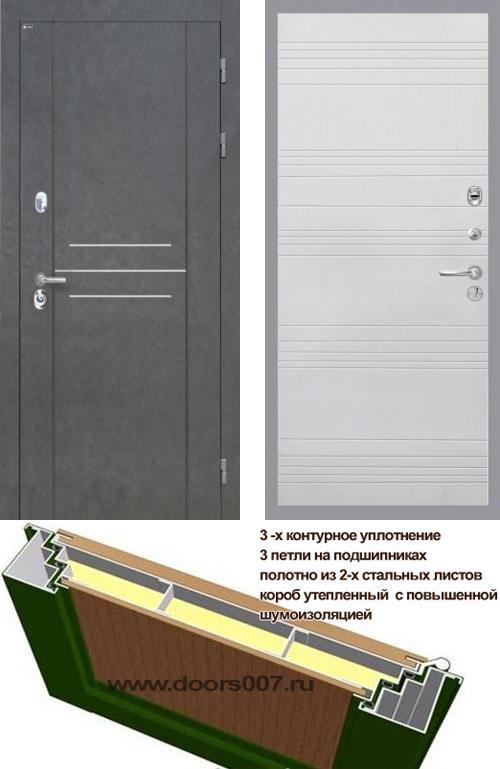 входные двери (стальные двери, металлические двери) DOORS007: дверь Интекрон Сенатор ЛОФТ ФЛ-316