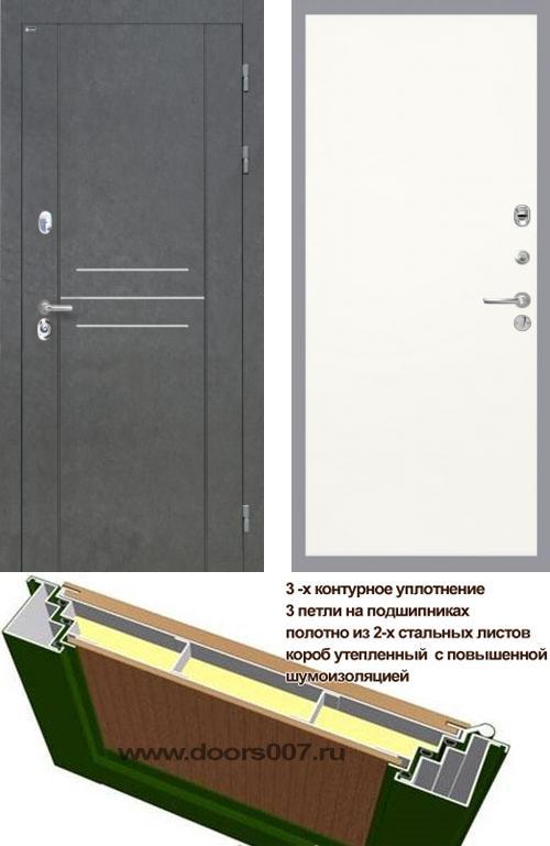 входные двери (стальные двери, металлические двери) DOORS007: дверь Интекрон Сенатор ЛОФТ Гладкая, Цвет