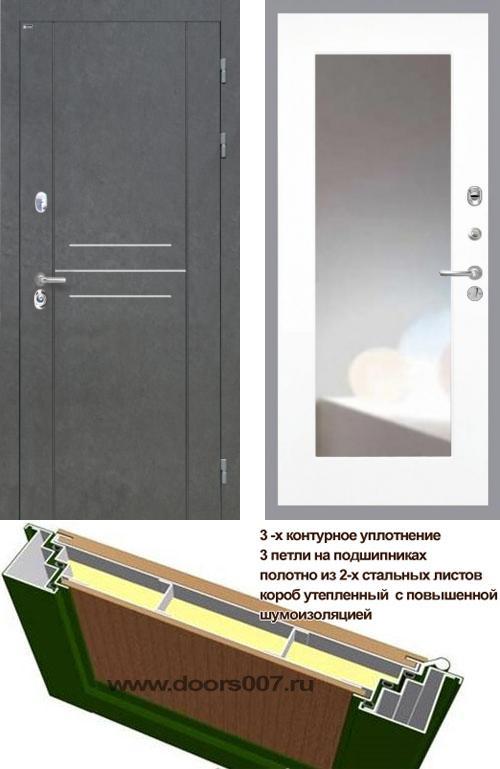 входные двери (стальные двери, металлические двери) DOORS007: дверь Интекрон Сенатор ЛОФТ ФЛЗ-120