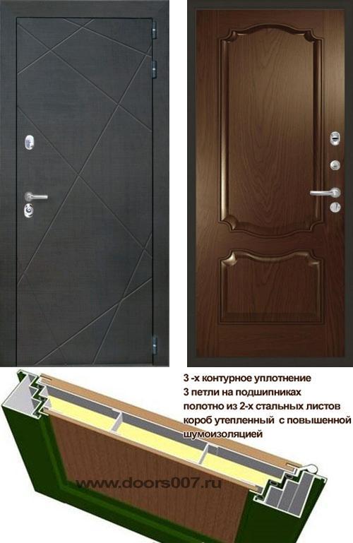 входные двери (стальные двери, металлические двери) DOORS007: дверь Интекрон Сенатор Лучи Позитано Багет