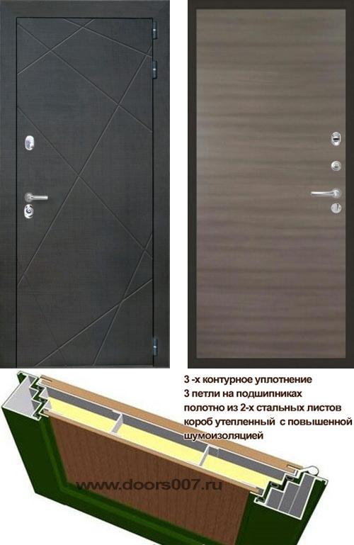 входные двери (стальные двери, металлические двери) DOORS007: дверь Интекрон Сенатор Лучи Гладкая, Цвет