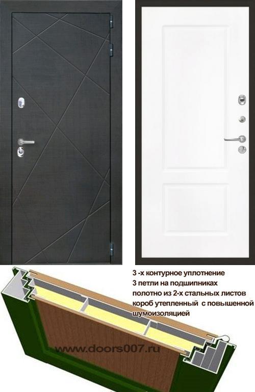 входные двери (стальные двери, металлические двери) DOORS007: дверь Интекрон Сенатор Лучи КВ-2