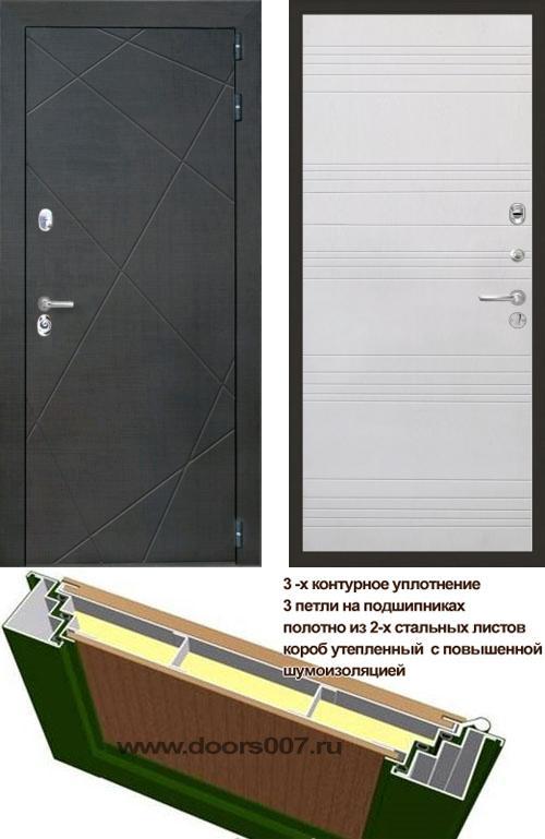 входные двери (стальные двери, металлические двери) DOORS007: дверь Интекрон Сенатор Лучи ФЛ-316