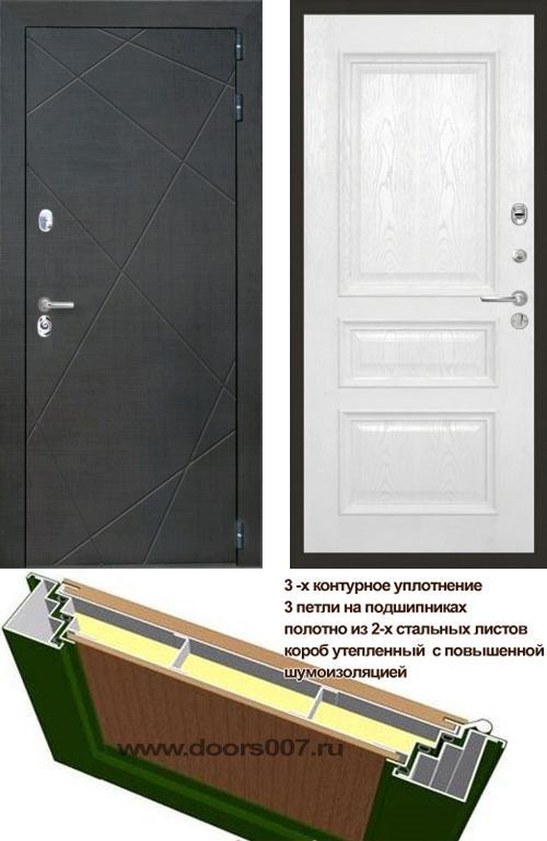 входные двери (стальные двери, металлические двери) DOORS007: дверь Интекрон Сенатор Лучи Валентия 2, шпон
