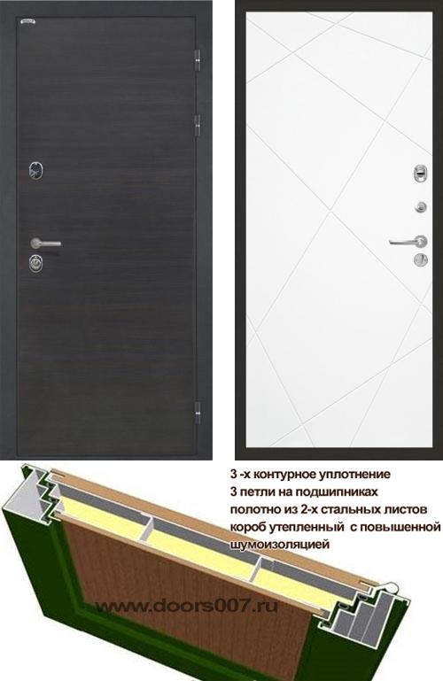 входные двери (стальные двери, металлические двери) DOORS007: дверь Интекрон Сицилия Лучи, Цвет