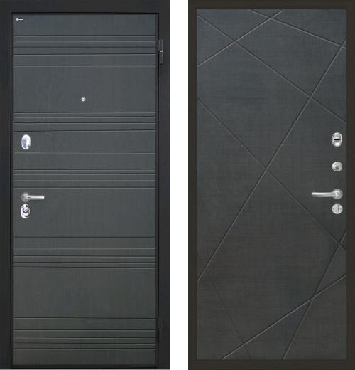 входные двери (стальные двери, металлические двери) DOORS007: дверь Интекрон Спарта Лучи