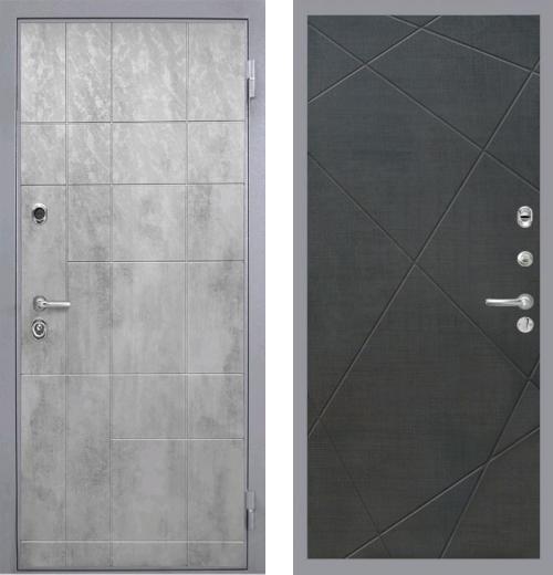 входные двери (стальные двери, металлические двери) DOORS007: дверь Интекрон Спарта Грэй Лучи