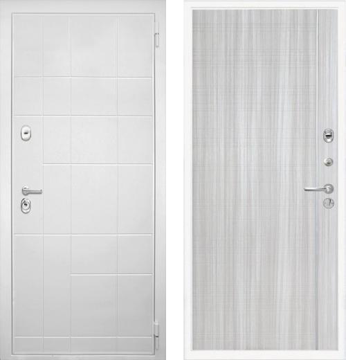 входные двери (стальные двери, металлические двери) DOORS007: дверь Интекрон Спарта White L5