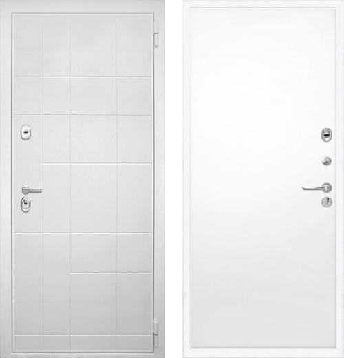 входные двери (стальные двери, металлические двери) DOORS007: дверь Интекрон Спарта White Гладкая