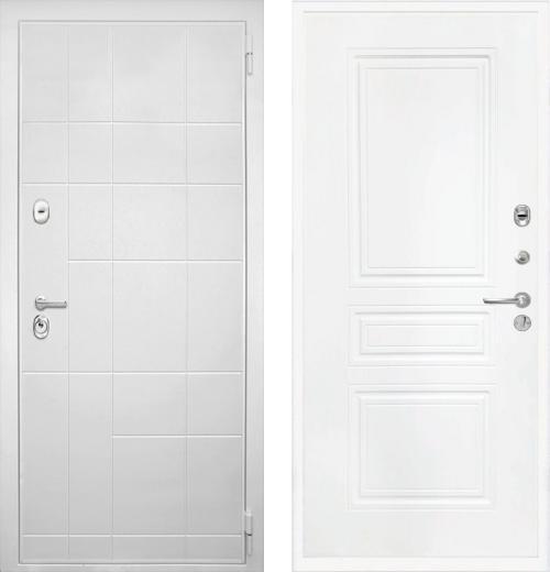 входные двери (стальные двери, металлические двери) DOORS007: дверь Интекрон Спарта White ФЛ-243-М