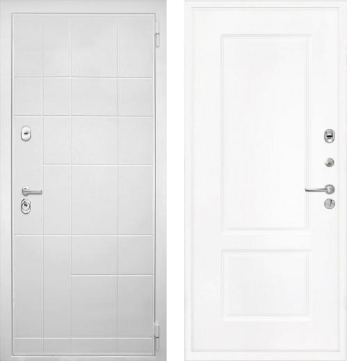 входные двери (стальные двери, металлические двери) DOORS007: дверь Интекрон Спарта White КВ-2