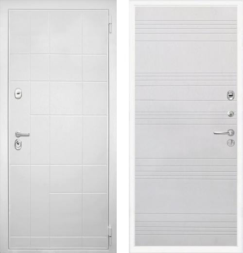 входные двери (стальные двери, металлические двери) DOORS007: дверь Интекрон Спарта White ФЛ-316
