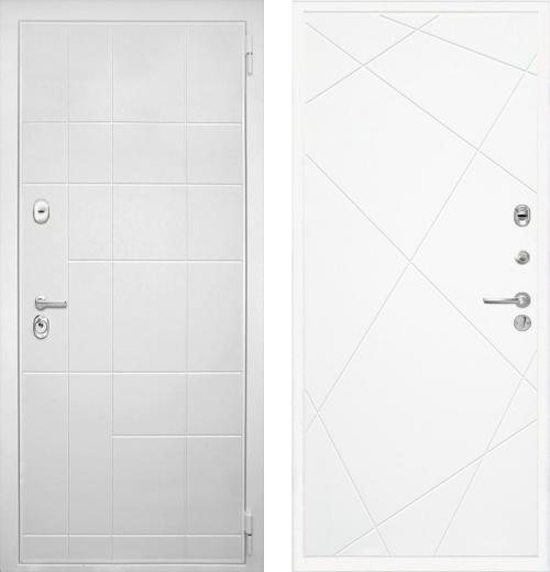 входные двери (стальные двери, металлические двери) DOORS007: дверь Интекрон Спарта White Лучи