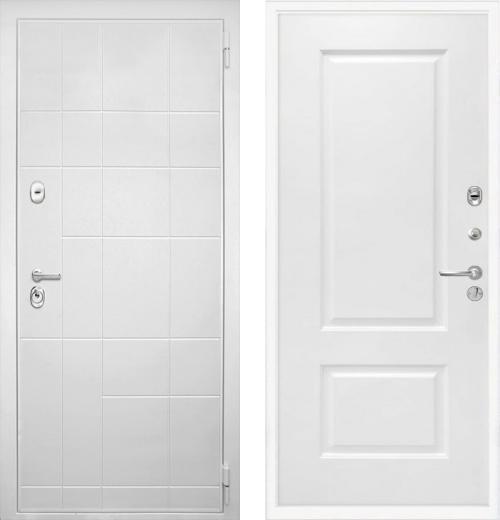 входные двери (стальные двери, металлические двери) DOORS007: дверь Интекрон Спарта White Альба
