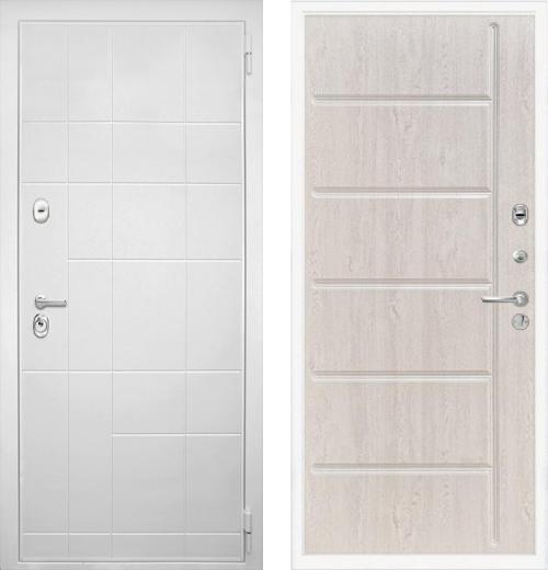 входные двери (стальные двери, металлические двери) DOORS007: дверь Интекрон Спарта White ФЛ-102