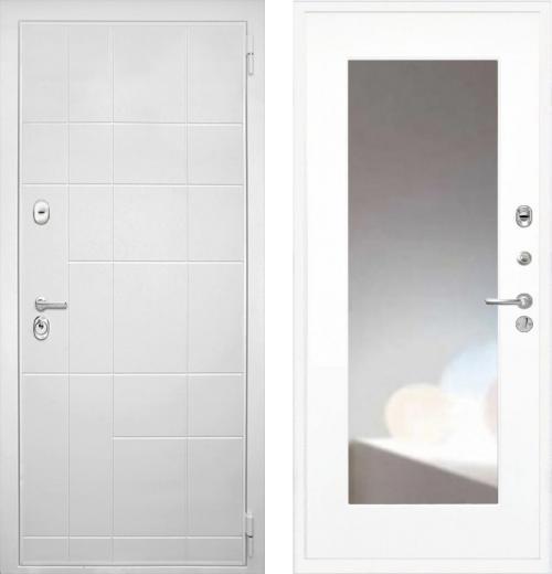 входные двери (стальные двери, металлические двери) DOORS007: дверь Интекрон Спарта White ФЛЗ-120