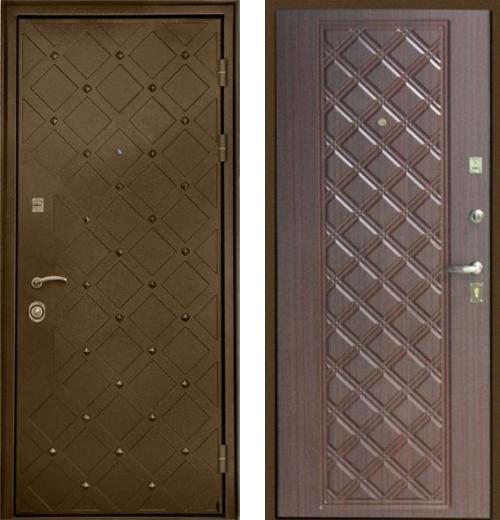 входные двери (стальные двери, металлические двери) DOORS007: дверь Интекрон Сундук