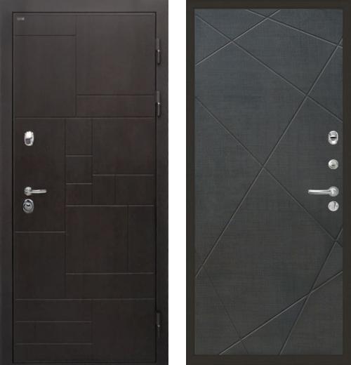 входные двери (стальные двери, металлические двери) DOORS007: дверь Интекрон Веста Лучи