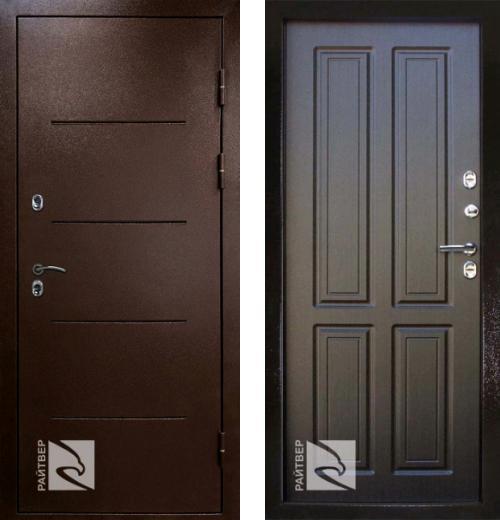 входные двери (стальные двери, металлические двери) DOORS007: дверь Кондор РАЙТВЕР Термо