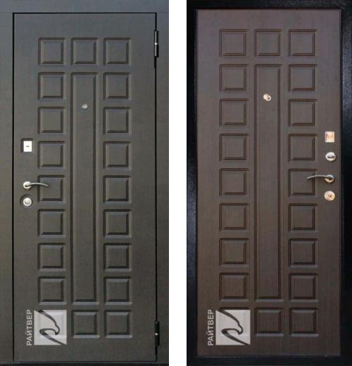 входные двери (стальные двери, металлические двери) DOORS007: дверь Кондор РАЙТВЕР Р-Сенат Life