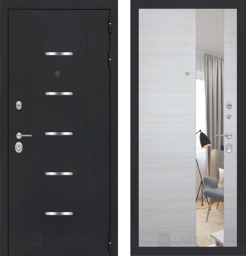 входные двери (стальные двери, металлические двери) DOORS007: дверь Labirint Alfa с зеркалом, Цвет