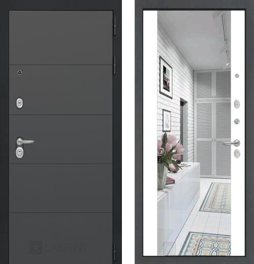 входные двери (стальные двери, металлические двери) DOORS007: дверь Labirint Art с зеркалом Максимум, Цвет