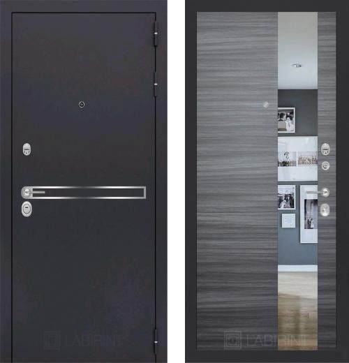 входные двери (стальные двери, металлические двери) DOORS007: дверь Labirint Line с зеркалом, Цвет