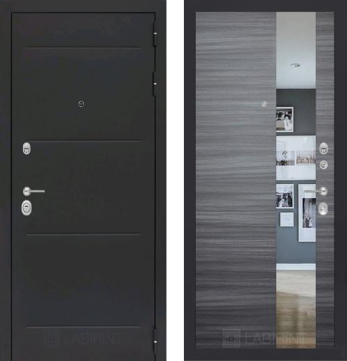 входные двери (стальные двери, металлические двери) DOORS007: дверь Labirint Loft с зеркалом, Цвет