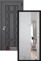 Стальная дверь Labirint New York с зеркалом