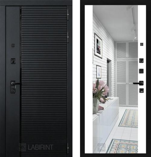 входные двери (стальные двери, металлические двери) DOORS007: дверь Labirint Piano с зеркалом Максимум, Цвет