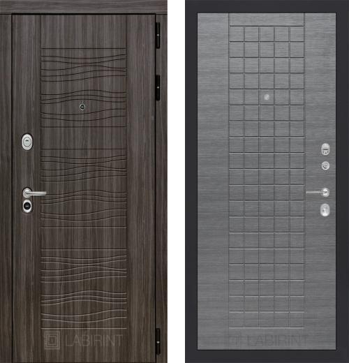входные двери (стальные двери, металлические двери) DOORS007: дверь Labirint Scandi 09