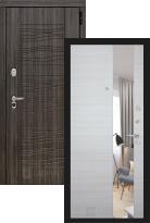 дверь Labirint Scandi с зеркалом (металлическая дверь Labirint Scandi с зеркалом, железная дверь)