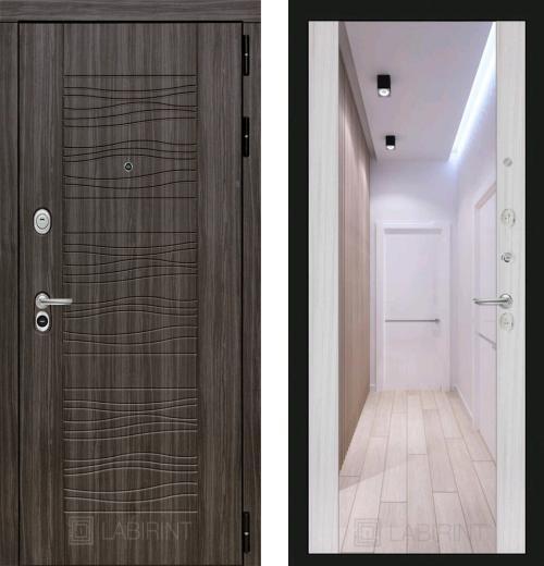 входные двери (стальные двери, металлические двери) DOORS007: дверь Labirint Scandi с зеркалом