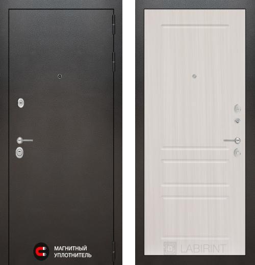 входные двери (стальные двери, металлические двери) DOORS007: дверь Labirint Silver 03, Цвет