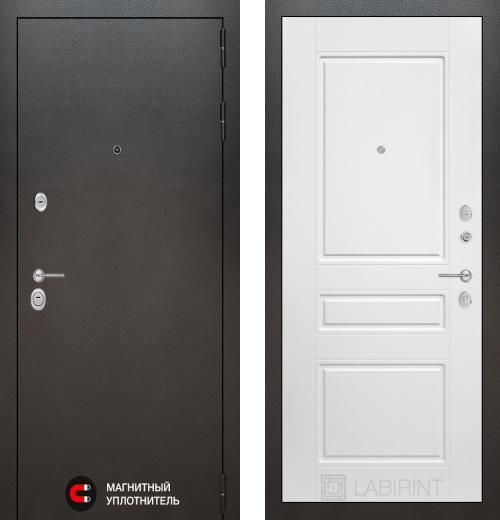 входные двери (стальные двери, металлические двери) DOORS007: дверь Labirint Silver 03