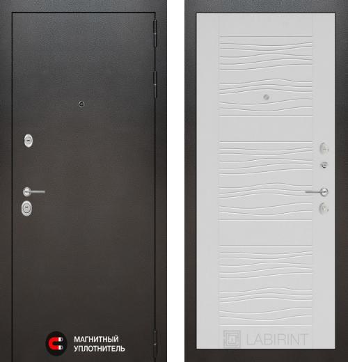 входные двери (стальные двери, металлические двери) DOORS007: дверь Labirint Silver 06, Цвет