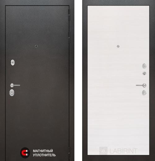 входные двери (стальные двери, металлические двери) DOORS007: дверь Labirint Silver 07