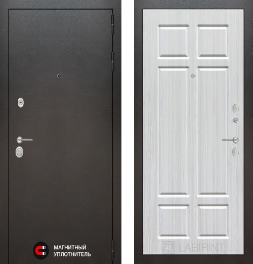 входные двери (стальные двери, металлические двери) DOORS007: дверь Labirint Silver 08