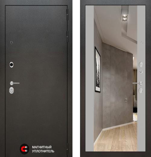 входные двери (стальные двери, металлические двери) DOORS007: дверь Labirint Silver