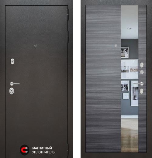 входные двери (стальные двери, металлические двери) DOORS007: дверь Labirint Silver с зеркалом, Цвет
