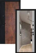 Стальная дверь Labirint Техно с зеркалом Максимум