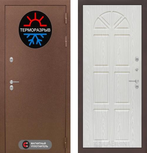 входные двери (стальные двери, металлические двери) DOORS007: дверь Labirint Термо Магнит