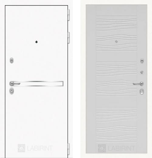 входные двери (стальные двери, металлические двери) DOORS007: дверь Labirint Лайн WHITE 06