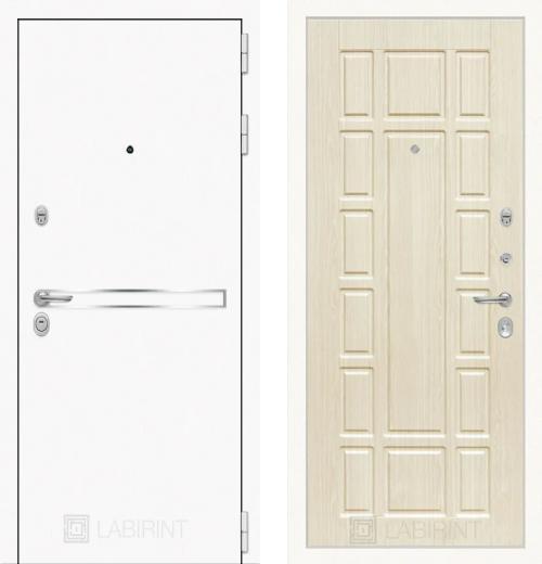входные двери (стальные двери, металлические двери) DOORS007: дверь Labirint Лайн WHITE 12