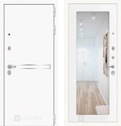 входные двери (стальные двери, металлические двери) DOORS007: дверь Labirint Лайн WHITE 18