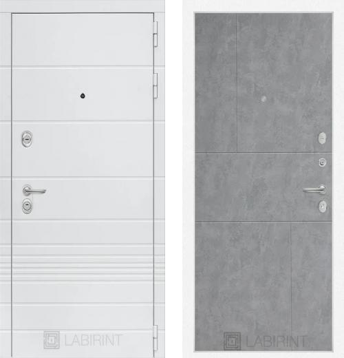 входные двери (стальные двери, металлические двери) DOORS007: дверь Labirint Trendo 21