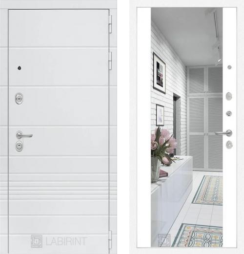 входные двери (стальные двери, металлические двери) DOORS007: дверь Labirint Trendo с широким зеркалом Максимум, Цвет
